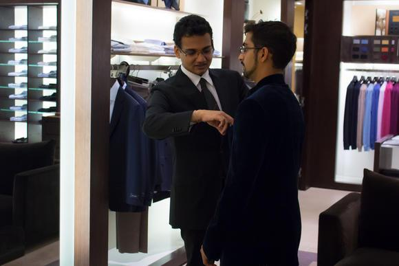 Brands such as Ermenegildo Zegna are attracting the young and the wealthy in India. (Photo by Alys Francis)