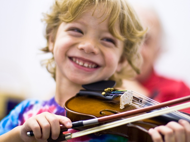 FLI Child Playing Violin