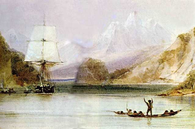 FLI HMS Beagle by Conrad Martens