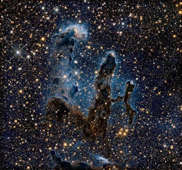 FLI Hubble Pillars NearInfrared