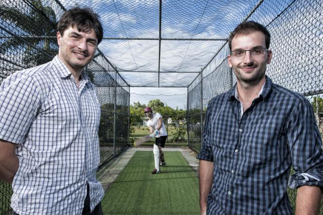 Professor Lionel Page and PhD researcher Romain Gauriot examined the behavior of batsmen as they neared landmark scores. Photo Credit: Erika Fish, QUT Media