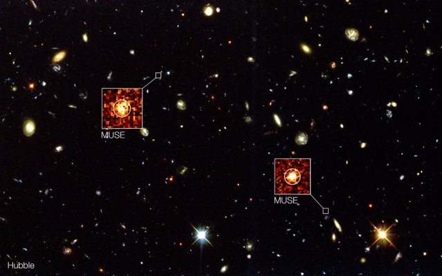 MUSE goes beyond Hubble in the Hubble Deep Field South Credit: ESO/MUSE Consortium/R. Bacon