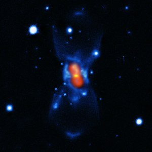 This picture shows the remains of the new star that was seen in the year 1670. It was created from a combination of visible-light images from the Gemini telescope (blue), a submillimetre map showing the dust from the SMA (green) and finally a map of the molecular emission from APEX and the SMA (red). The star that European astronomers saw in 1670 was not a nova, but a much rarer, violent breed of stellar collision. It was spectacular enough to be easily seen with the naked eye during its first outburst, but the traces it left were so faint that very careful analysis using submillimetre telescopes was needed before the mystery could finally be unravelled more than 340 years later. Credit: ESO/T. Kamiński