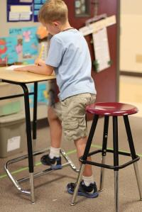Preliminary results show 12 percent greater on-task engagement in classrooms with standing desks, which equates to an extra seven minutes per hour of engaged instruction time. Credit: Texas A&M Health Science Center