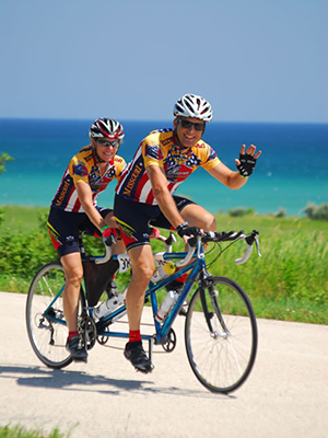 SLU researcher Edward Weiss, Ph.D., and his wife, Sandy, are avid cyclists.   Credit: Saint Louis University