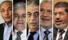 7R Egypt's presidential frontrunners from left to right Ahmed Shafiq,Hamdeen Sabbahi, Amr Moussa, Abdel-Moneim Abul-Fotouh and Mohamed Morsi Photo Al-Ahram