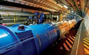 The Large Hadron Collider ring is 27 kilometers in length and buried deep beneath the Geneva, Switzerland, countryside, with ATLAS and CMS detectors located on opposite sides. Credit: CERN