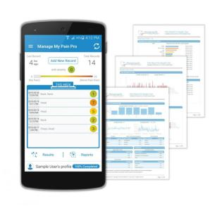 Mobile app Manage My Pain allows chronic pain sufferers to track their aches and create reports that help in improved patient-doctor communication. Credit: Illustration provided by ManagingLife