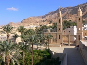 St. Anthony Monastery, located at the foot of Al-Qalzam Mountain (where the saint once lived), was founded in 356 after St. Anthony's death and is the oldest active monastery in the world. The Monastery is located approximately 100 miles southeast of Cairo.