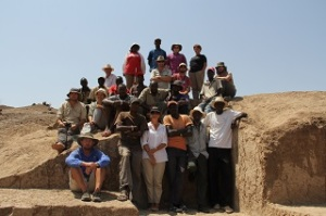 The WTAP team together at the excavation site in Kenya. Credit: Stony Brook University