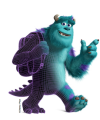 "Key art of James ""Jimmy"" P. ""Sulley"" Sullivan--the protagonist in the Disney/Pixar 2001 feature film Monsters University--included in the Museum of Science exhibition, ""The Science Behind Pixar."" Credit: © Disney / Pixar"