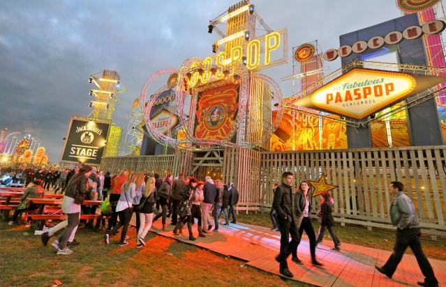 Schijndel - Paaspop 2012. Publiek op de traditionele opening van het festivalseizoen.