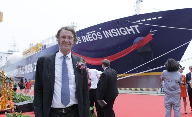 FLI INEOS-Jim-Ratcliffe-at-the-launch-of-the-Ineos-Insight-Dragon-shale-supertanker
