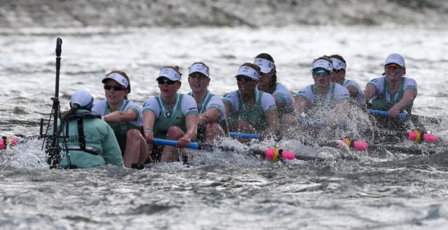Rowing - BNY Mellon 2016 Oxford v Cambridge University Boat Race - River Thames, London - 27/3/16 The Cambridge boat takes on water during the Women's Race Action Images via Reuters / Matthew Childs Livepic EDITORIAL USE ONLY.